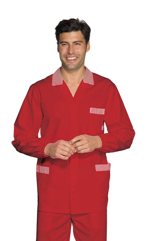 CASACCA PETER ROSSO+R.ROSSO 65% POLYESTER  35% COTTON