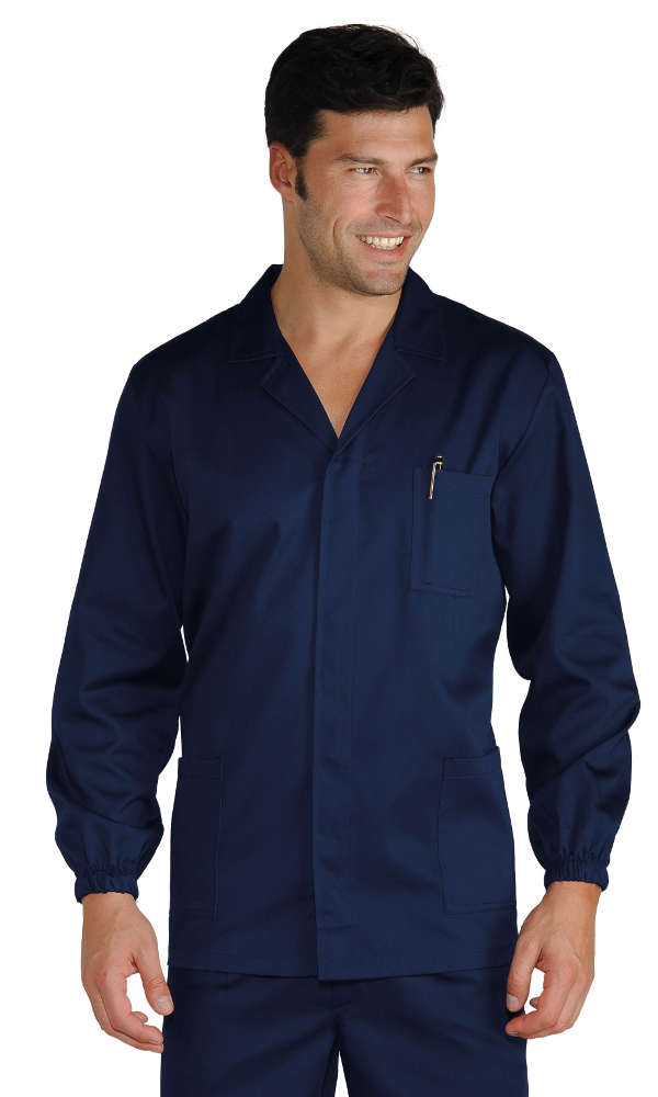 GIACCA SPORT BLU SCURO 65% POLYESTER  35% COTTON