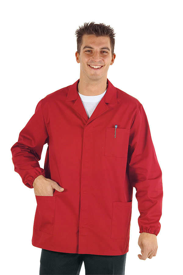GIACCA SPORT ROSSO 65% POLYESTER  35% COTTON