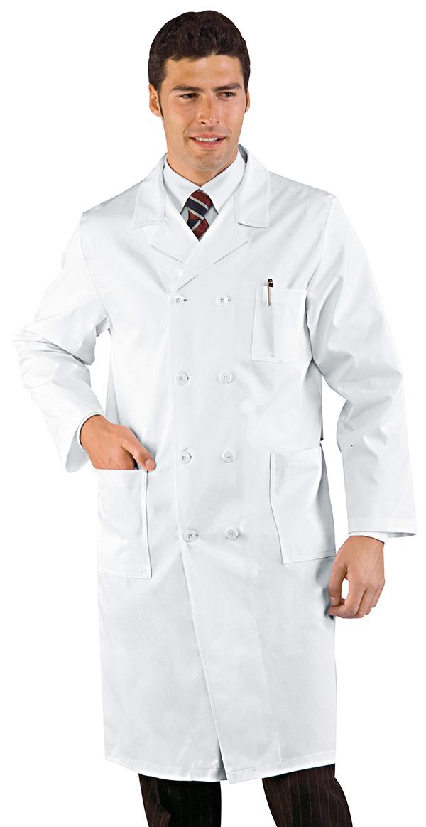CAMICE MEDICO DOPPIO PETTO BIANCO CM 110 100 % COTTON